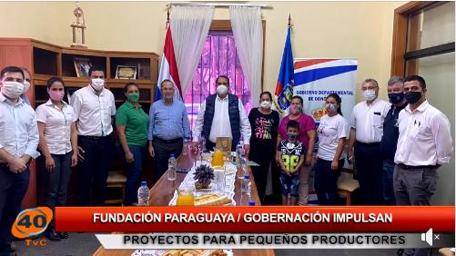 Visita a la oficina de la Fundación Paraguaya en Concepción